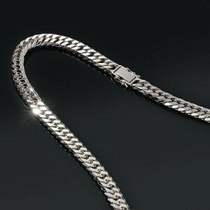 ネックレス チェーン PT850 プラチナ 6面カットダブル喜平チェーン 幅10.9mm 長さ50cm|鎖 850pt 貴金属 ジュエリー メンズ