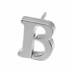 【バラ売り/1個】 ピアス サージカルステンレス B イニシャルのピアス アルファベット 文字|医療用ステンレス アクセサリー レディース メンズ 母の日 プレゼント ギフト 無料ラッピング