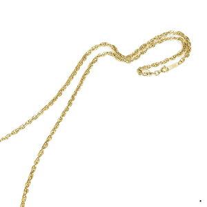ネックレス チェーン サージカルステンレス 316L 金色 角ルーズロープチェーン 幅2.8mm 長さ55cm|鎖 ステンレス アクセサリー レディース メンズ