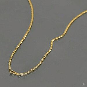 ネックレス チェーン サージカルステンレス 316L 金色 角スクロールチェーン 幅2.4mm 長さ60cm|鎖 ステンレス アクセサリー レディース メンズ 母の日 プレゼント ギフト 無料ラッピング