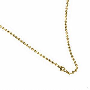 ネックレス チェーン サージカルステンレス 316L 金色 ボールチェーン 幅3.0mm 長さ50cm|鎖 ステンレス アクセサリー レディース メンズ 母の日 プレゼント ギフト 無料ラッピング