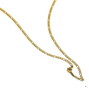 ネックレス チェーン サージカルステンレス 316L 金色 フィガロチェーン 幅2.9mm 長さ70cm|鎖 ステンレス アクセサリー レディース メンズ 母の日 プレゼント ギフト 無料ラッピング