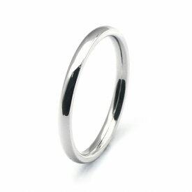 指輪 サージカルステンレス シンプルな甲丸リング 幅2.0mm 銀色 シルバー|医療用ステンレス アクセサリー レディース メンズ