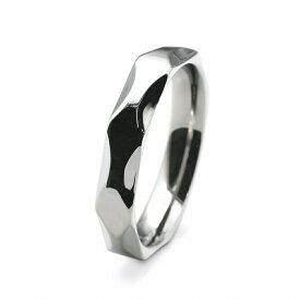 指輪 サージカルステンレス 立体的な幾何学模様のリング 幅4.0mm 銀色 シルバー|医療用ステンレス アクセサリー レディース メンズ