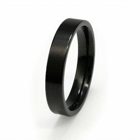 指輪 サージカルステンレス シンプルなフラットリング 幅4.0mm 黒 ブラック|医療用ステンレス アクセサリー レディース メンズ