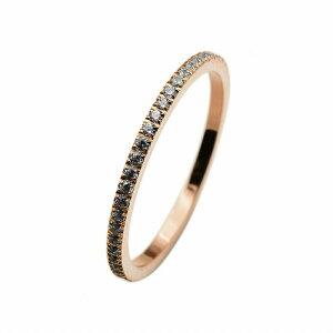 指輪 サージカルステンレス 一周ぐるりキュービックジルコニアのフルエタニティリング 爪留め 幅1.5mm ピンクゴールド クリア|医療用ステンレス アクセサリー レディース メンズ