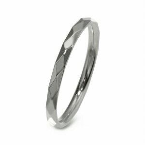 指輪 サージカルステンレス アーガイルカットリング 幅2.0mm 銀色 シルバー 医療用ステンレス アクセサリー レディース メンズ