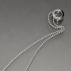 ペンダントトップ タングステン カット入りリング型のペンダント ネックレスチェーン付き|Tungsten アクセサリー レディース メンズ 母の日 プレゼント ギフト 無料ラッピング