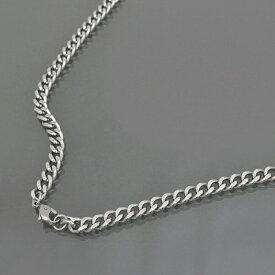 ネックレス チェーン 明るい色の純チタン 2面カット喜平チェーン 幅5.7mm 長さ55cm|鎖 チタン アクセサリー メンズ