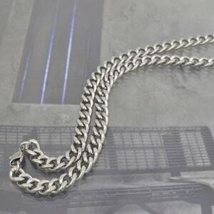 ネックレス チェーン 明るい色の純チタン 2面カット喜平チェーン 幅7.3mm 長さ40cm|鎖 チタン アクセサリー メンズ