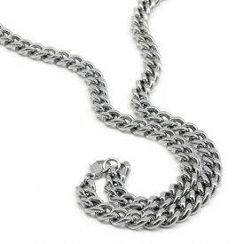 ネックレス チェーン 明るい色の純チタン 2面カット喜平チェーン 幅9.0mm 長さ90cm|鎖 チタン アクセサリー メンズ