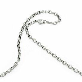 ネックレス チェーン 明るい色の純チタン ロングロールチェーン 幅3.9mm 長さ80cm|鎖 チタン アクセサリー レディース メンズ