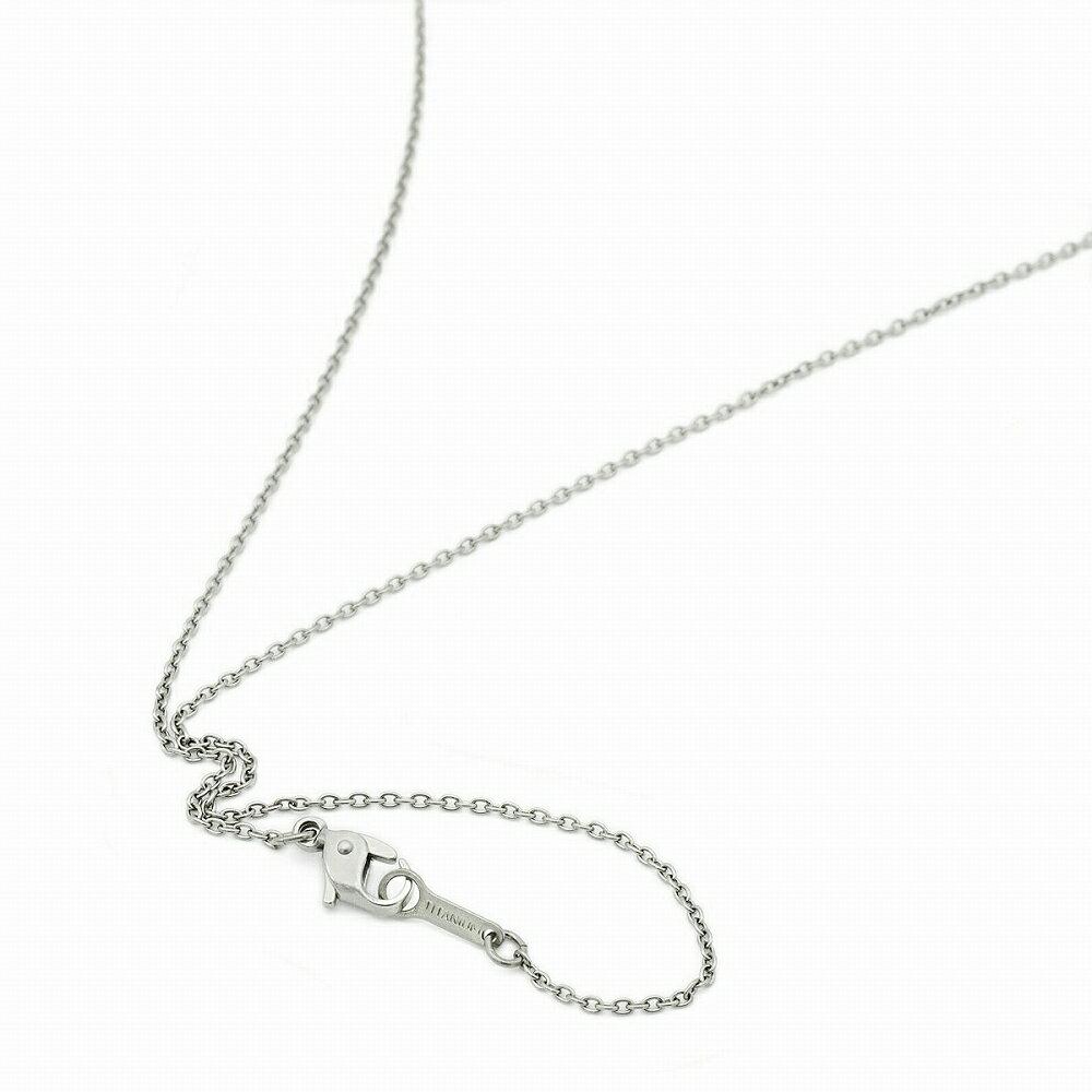 ネックレス チェーン 明るい色の純チタン 小豆チェーン 幅1.3mm 長さ55cm|鎖 チタン アクセサリー レディース メンズ