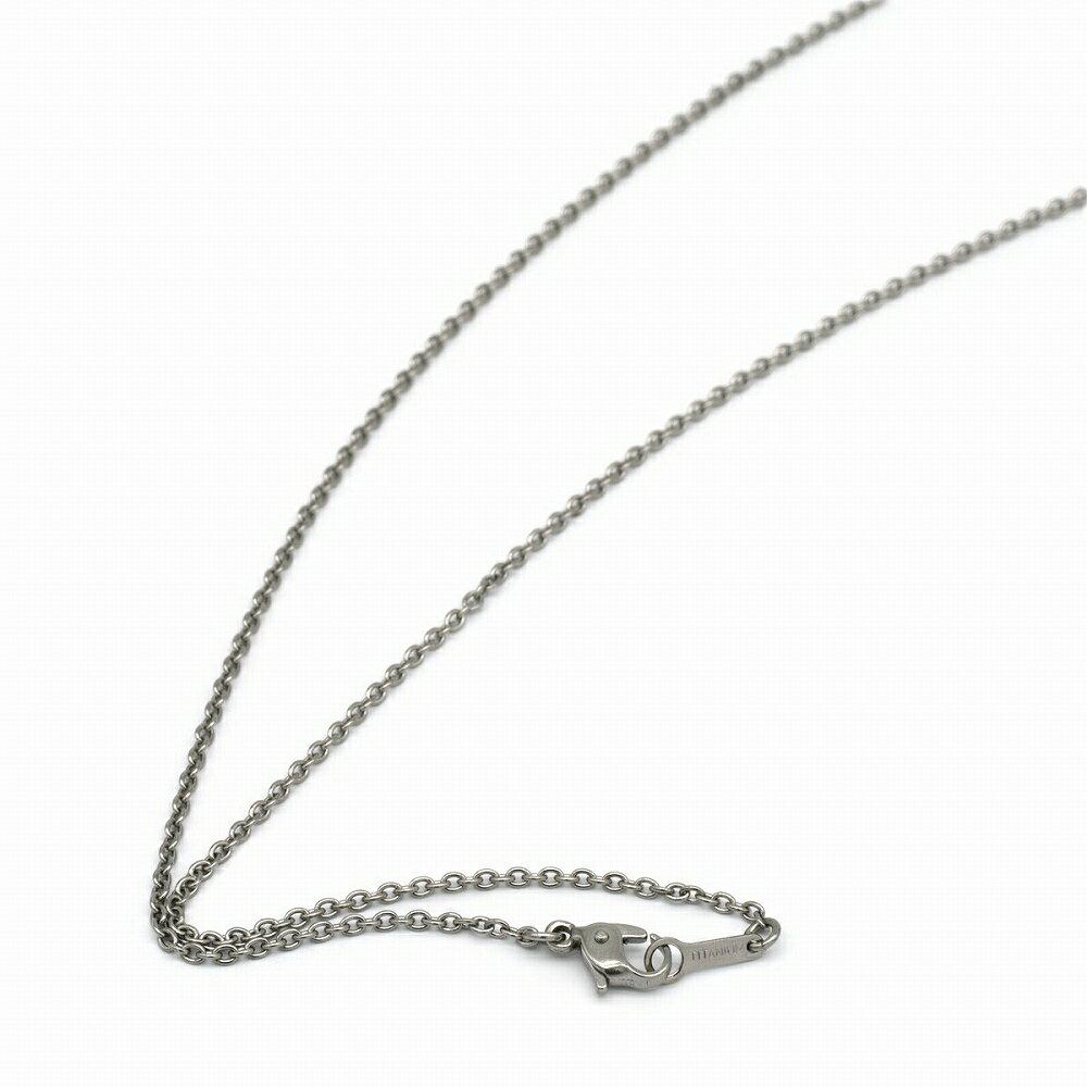 ネックレス チェーン 明るい色の純チタン 小豆チェーン 幅1.65mm 長さ80cm|鎖 チタン アクセサリー レディース メンズ