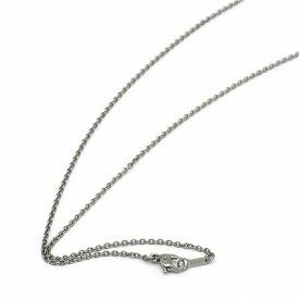 ネックレス チェーン 明るい色の純チタン 小豆チェーン 幅1.65mm 長さ40cm|鎖 チタン アクセサリー レディース メンズ