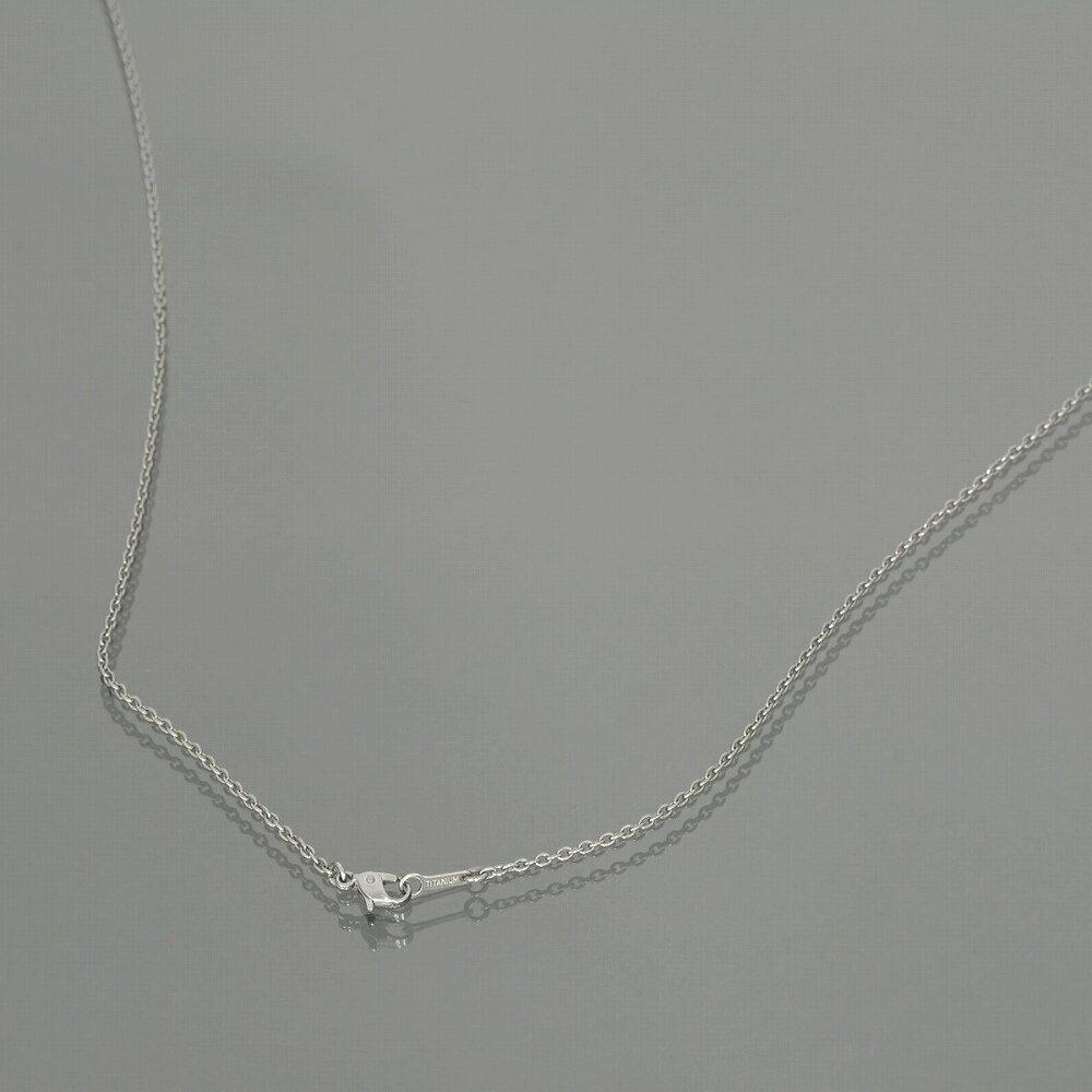 ネックレス チェーン 明るい色の純チタン 小豆チェーン 幅1.9mm 長さ55cm|鎖 チタン アクセサリー レディース メンズ