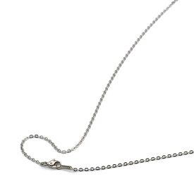 ネックレス チェーン 明るい色の純チタン フラット小豆チェーン 幅2.0mm 長さ45cm|鎖 チタン アクセサリー レディース メンズ