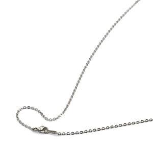 ネックレス チェーン 明るい色の純チタン フラット小豆チェーン 幅2.0mm 長さ80cm|鎖 チタン アクセサリー レディース メンズ