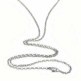 ネックレス チェーン 明るい色の純チタン ロングロールチェーン 幅2.2mm 長さ70cm|鎖 チタン アクセサリー レディース メンズ