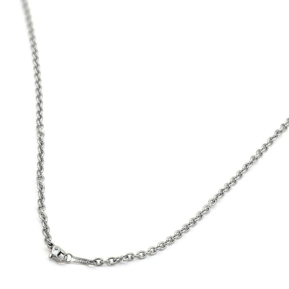 ネックレス チェーン 明るい色の純チタン 小豆チェーン 幅3.0mm 長さ50cm|鎖 チタン アクセサリー レディース メンズ