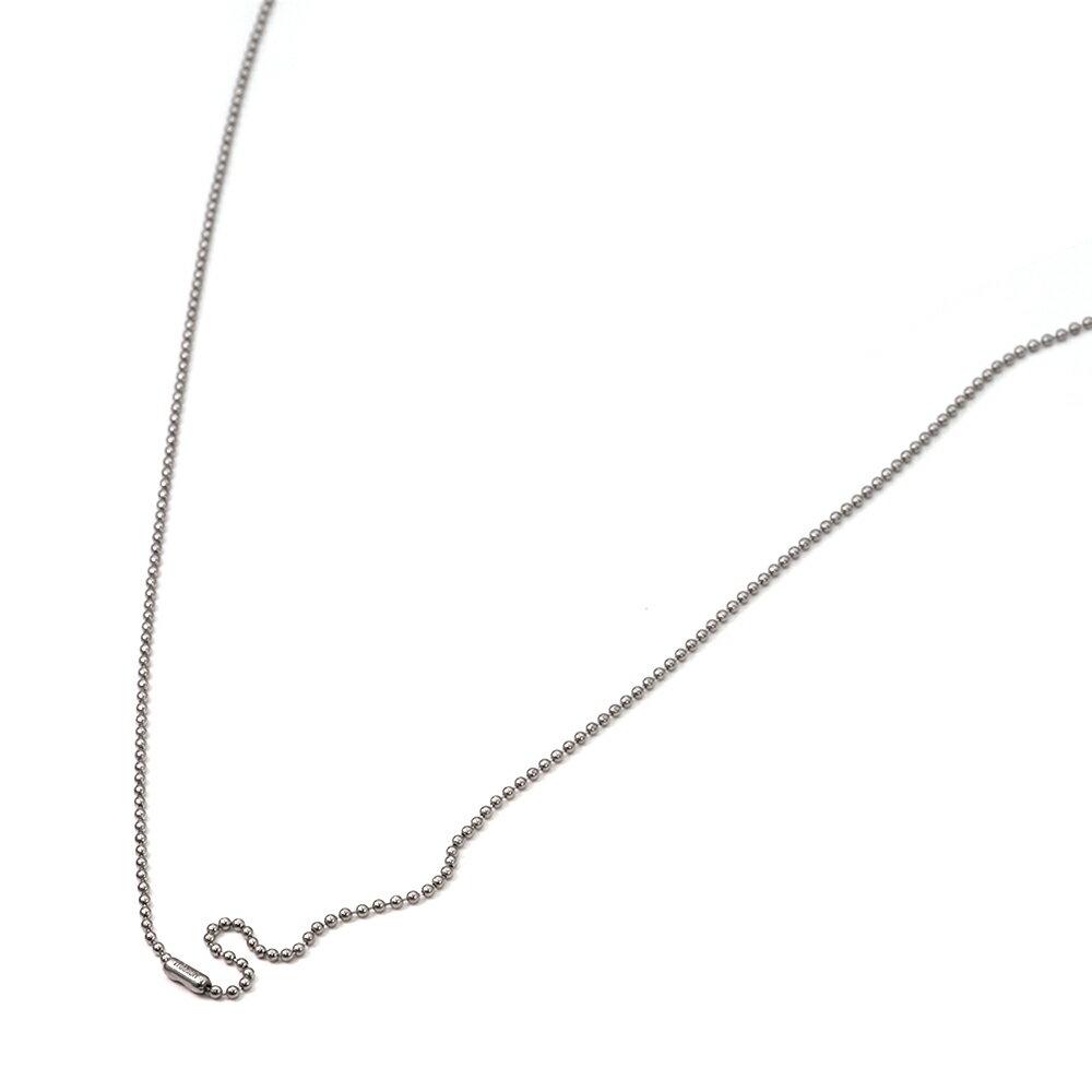 ネックレス チェーン 明るい色の純チタン ボールチェーン コネクタ 幅1.5mm 長さ90cm|鎖 チタン アクセサリー レディース メンズ