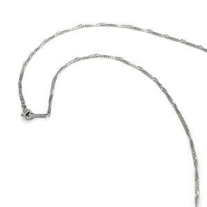 ネックレス チェーン 明るい色の純チタン スクリューチェーン 幅2.3mm 長さ80cm|鎖 チタン アクセサリー レディース メンズ