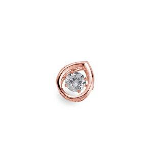 ペンダントトップ 18金 ピンクゴールド 天然石 主石が揺れるティアドロップ型の一粒ペンダント 主石の直径約3.8mm ダンシングストーン ペンダントヘッドのみ|K18PG 18k 貴金属 ジュエリー レ