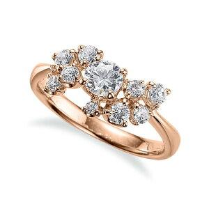 指輪 18金 ピンクゴールド 天然石 サイドストーンリング 主石の直径約4.4mm 四本爪留め|K18PG 18k 貴金属 ジュエリー レディース メンズ 母の日 プレゼント ギフト 無料ラッピング