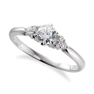 指輪 18金 ホワイトゴールド 天然石 サイドストーンリング 主石の直径約5.2mm 六本爪留め K18WG 18k 貴金属 ジュエリー レディース メンズ
