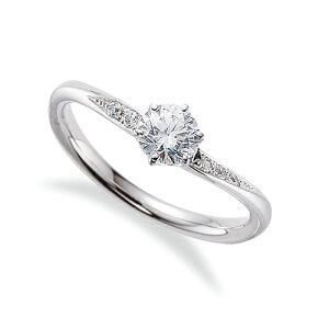 指輪 18金 ホワイトゴールド 天然石 サイド一文字リング 主石の直径約4.4mm V字 六本爪留め K18WG 18k 貴金属 ジュエリー レディース メンズ