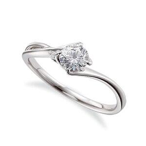 指輪 18金 ホワイトゴールド 天然石 サイドストーンリング 主石の直径約4.4mm ウェーブ 割り腕 K18WG 18k 貴金属 ジュエリー レディース メンズ