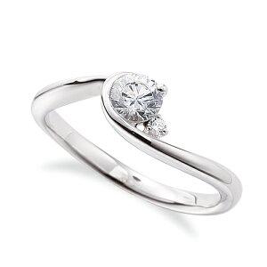 指輪 18金 ホワイトゴールド 天然石 サイドストーンリング 主石の直径約4.4mm ウェーブ レール留め|K18WG 18k 貴金属 ジュエリー レディース メンズ 母の日 プレゼント ギフト 無料ラッピング