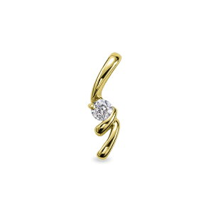 ペンダントトップ 18金 イエローゴールド 天然石 スパイラルラインの一粒ペンダント 主石の直径約3.8mm ペンダントヘッドのみ|K18YG 18k 貴金属 ジュエリー レディース メンズ
