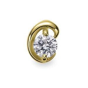 ペンダントトップ 18金 イエローゴールド 天然石 C イニシャルモチーフの一粒ペンダント 主石の直径約4.4mm ペンダントヘッドのみ K18YG 18k 貴金属 ジュエリー レディース メンズ