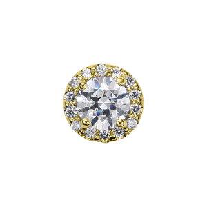 ペンダントトップ 18金 イエローゴールド 天然石 取り巻きスルーペンダント 主石の直径約5.2mm 四本爪留め ペンダントヘッドのみ|K18YG 18k 貴金属 ジュエリー レディース メンズ