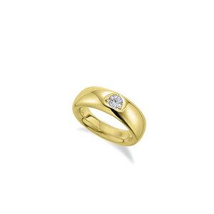 ペンダントトップ 18金 イエローゴールド 天然石 ベビーリングペンダント 主石の直径約1.9mm ペンダントヘッドのみ|K18YG 18k 貴金属 ジュエリー レディース メンズ