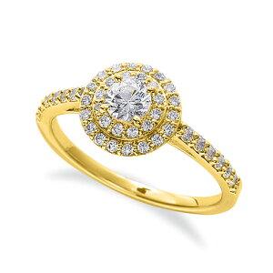 指輪 18金 イエローゴールド 天然石 サイド一文字の取り巻きリング 主石の直径約4.1mm 四本爪留め|K18YG 18k 貴金属 ジュエリー レディース メンズ 母の日 プレゼント ギフト 無料ラッピング