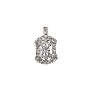 ペンダントトップ PT900 プラチナ 天然石 ミル打ちと透かしの取り巻きペンダント 主石の直径約3.0mm 四本爪留め ペンダントヘッドのみ|900pt 貴金属 ジュエリー レディース メンズ