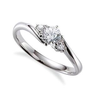 指輪 PT900 プラチナ 天然石 サイドストーンリング 主石の直径約5.2mm ウェーブ 六本爪留め|900pt 貴金属 ジュエリー レディース メンズ 母の日 プレゼント ギフト 無料ラッピング