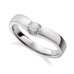 指輪 PT900 プラチナ 天然石 一粒リング 主石の直径約3.8mm ソリティア V字 平打ち レール留め|900pt 貴金属 ジュエリー レディース メンズ