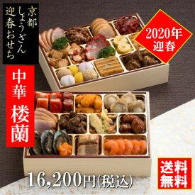 「楼蘭」京都しょうざんのおせち料理セット 中華おせち二段重 約3人前 冷凍