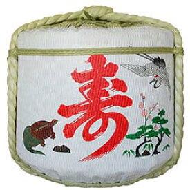 飾り樽[寿・鶴・亀]2斗樽(ディスプレイ樽)Japanese Decorative barrel