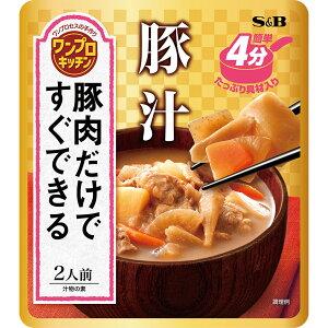 ワンプロキッチン 豚汁300g【具入り調味料/和食/簡単/簡便/SB/S&B/エスビー/楽天/通販】
