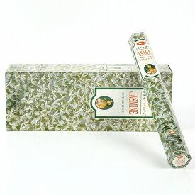 【限定特別価格】「HEM六角香6個入りジャスミン 素敵なプレゼント付!!」ヘム JASMINE/お香/激安/インド/