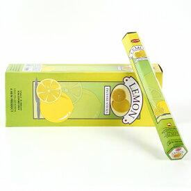 【限定特別価格】「HEM六角香6個入りレモン 素敵なプレゼント付!!」ヘム LEMON/お香/激安/インド/