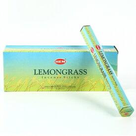 【限定特別価格】「HEM六角香6個入りレモングラス 素敵なプレゼント付!!」ヘム LEMONGRASS/お香/激安/インド/