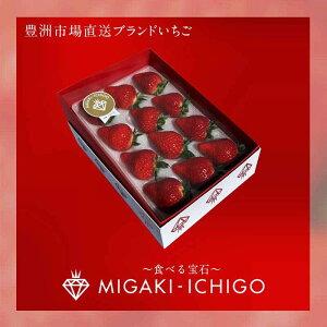 みがきいちご ゴールド 苺 イチゴ いちご ミガキイチゴ MIGAKIICHIGO 15粒 食べる宝石 フルーツ 果物 ギフト用 贈答用 家庭用 お歳暮 産直 産地直送 豊洲