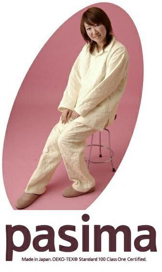パシーマ パジャマ きなり ガーゼ/脱脂綿 メンズサイズ 日本製