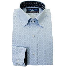 ワイシャツ 形態安定 M L LL 2L 3L 長袖 2020秋冬 新作 青 ブルー ドビー スナップダウン 標準 オフィスカジュアル シャツハウス メンズ ドレスシャツ 0622SS