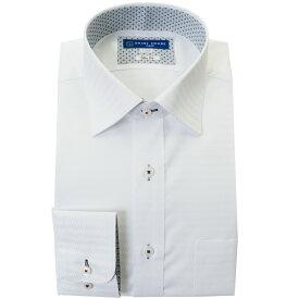 ワイシャツ 形態安定 S M L LL 2L 長袖 2020秋冬 新作 白 ドビー ワイドカラー スリム 細身 オフィスカジュアル シャツハウス メンズ ドレスシャツ 0622SS